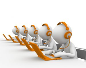 Image of call center, telemarketing