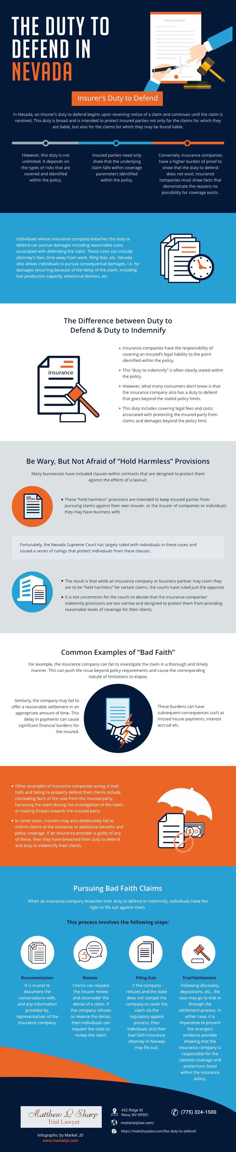 infographic_Duty to Defend_bad faith insurance attorney nevada