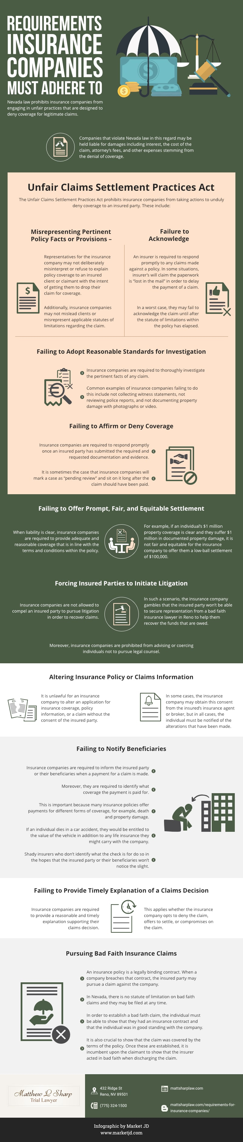 Insurance Company Requirements_bad faith insurance lawyer reno_infographic