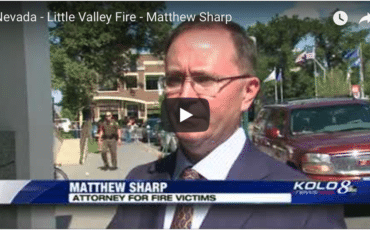 Matthew Sharp Represents Little Valley Wild Fire Homeowners