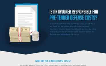 Is an Insurer Responsible for Pre-Tender Defense Costs? [Infographic]