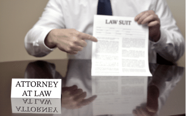 Lawyer points to a law suit file